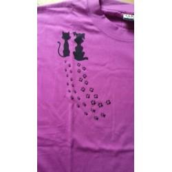 T-Shirt Hund/Katz schwarz