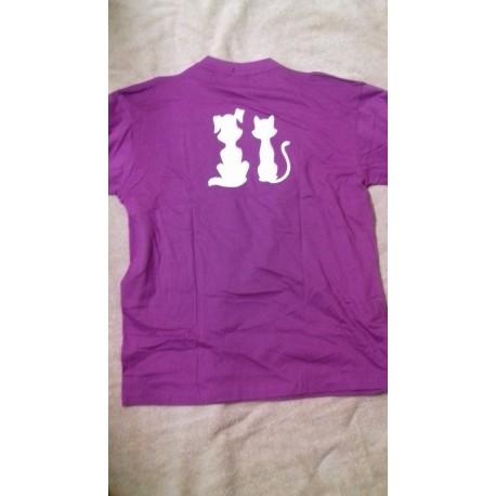 T-Shirt Hund Katz  beidseitig
